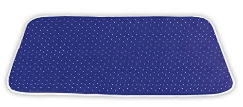 WENKO Dampf-Bügeldecke, Bügelunterlage mit 5-Lagen Komfort-Polsterung mit Aluminiumschicht für knitterfreies Bügeln, Hitzereflektion & Dampfsperre,...