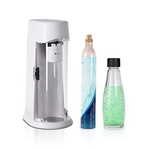 Levivo Wassersprudler Juice Inkl. 0,6l Glasflasche Und 60l Co2-Zylinder, Sprudelt Säfte, Softdrinks Und Jedes Getränk Ihrer Wahl, Für 60l Co2-Zylinder,...