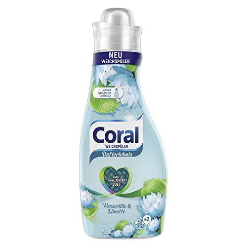 Coral Dufterlebnis Weichspüler Wasserlilie & Limette (für frische Wäsche mit langanhaltendem Wäscheduft 25 + 2 WL), 1 Stück ( 1 x 675 ml)