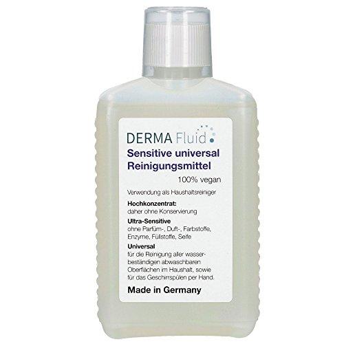DERMA Fluid Sensitive Universal Reinigungsmittel - Made in Germany - ohne Duft- und Konservierungsstoffe - Unser Allzweckreiniger für alle Oberflächen im...