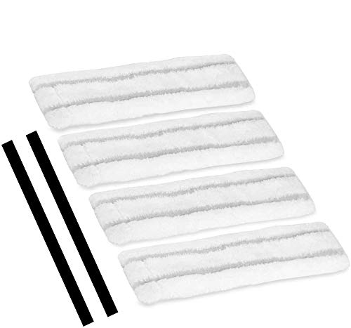 Abziehlippen und Microfaser Wischbezuege Set, Eventronic Abziehlippen(2 WV, 280mm) und Microfaser Wischbezuege(4 WV) für Kärcher-Akku-Fenstersaugern WV 50...
