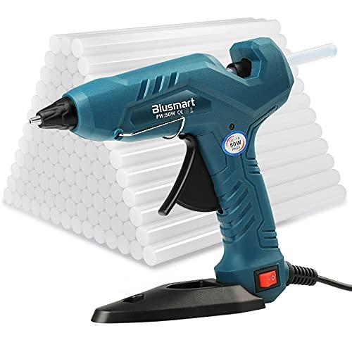Heißklebepistole Klebepistole + 80 Heißklebesticks für DIY Kleine Handwerk und schnelle Reparaturen in Haus & Büro, 50 Watt Klebepistolen Verbesserte...