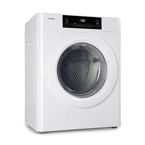 Klarstein Ultradry Wäschetrockner, Ablufttrockner, Frontlader, 1250 Watt, Heizleistung: 1100 Watt, freistehend/unterbaufähig, EEK C, IPX4, 3 kg,...
