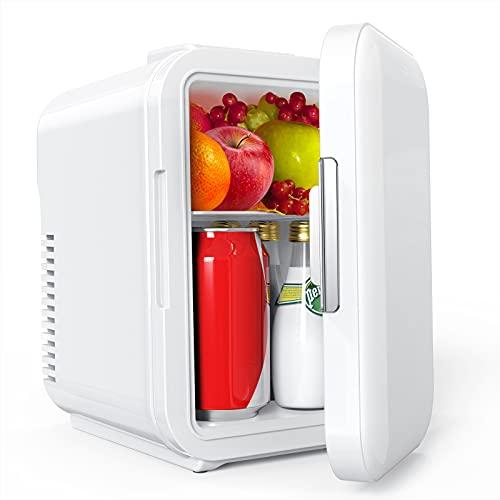 Mini Kühlschrank, Lifelf 4L mobiler Auto Kühlschrank mit Kühl– und Heizbetrieb, AC 220V / DC 12V, 68W Stromverbrauch niedrig, 35 dB geringes Rauschen für...