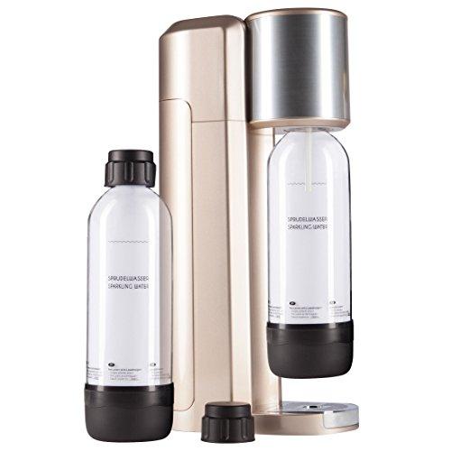 Levivo Wassersprudler Set / Trinkwassersprudler Starter Set inkl. 2 Sprudlerflaschen aus PET, klassischer Sodabereiter für individuelles Zusetzen von...