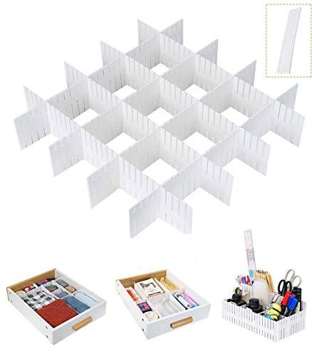 Tang Yuan 12-teilige Schubladenteiler, weiße Schubladenteiler, Schubladengitter DIY Organizer, verwendet, um Büro Schlafzimmer Kommode Schublade Desktop zu...