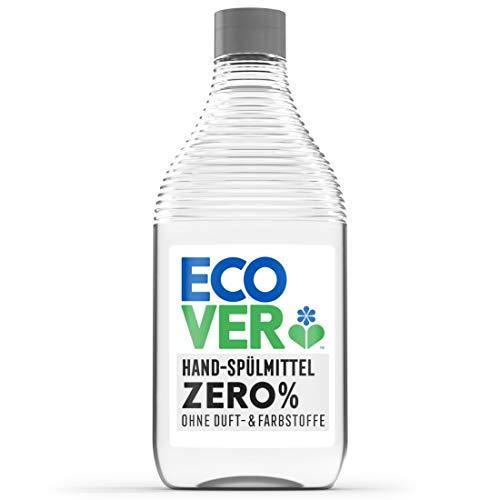 Ecover Zero Hand-Spülmittel (450 ml), nachhaltiges Spülmittel mit Zuckertensiden ohne Duftstoffe, kraftvoller Fettlöser, Geschirrspülmittel flüssig und auf...
