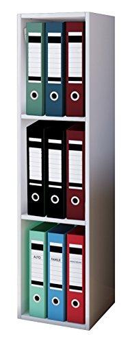 VCM Aktenregal Bücherregal Regal Standregal Büroregal Ordnerregal Schrank Büro Möbel Weiß 115 x 34 x 29 cm 'Offas'