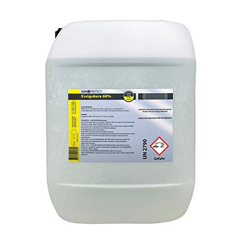 Nanoprotect Essigsäure 60%   10 kg   Premium Qualität   Deutsche Ware