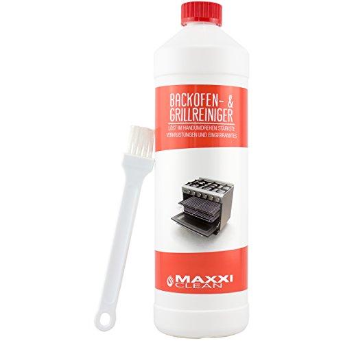 Maxxi Clean Backofen-Reiniger Gel Paste inkl. Backofen- und Grillreiniger Pinsel | löst einfach hartnäckigste Verkrustungen, reinigt selbsttätig - ohne...