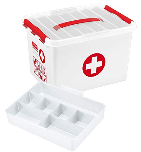 Sunware 8711112798250 ERSTE Hilfe Box, Plastik, Rot/Weiß, 22 Liter