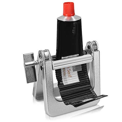 kwmobile Tubenquetscher Maschine aus Metall - Farbe Kleber Kosmetik Haargel Zahnpasta Lebensmittel Tubenpresse - Tubenausdrücker Ausquetscher