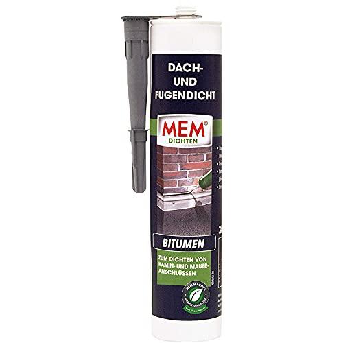 MEM Dach- und Fugendicht, Lösemittelfreie Bitumenmasse, Sehr gute Haftung auf vielen Untergründen, Schwarz, 300 g