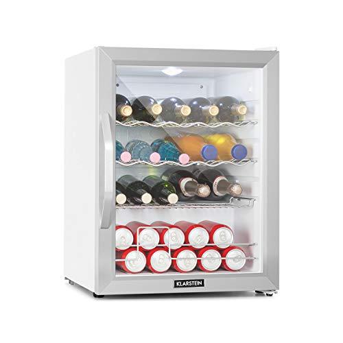 Klarstein Beersafe XL - Getränkekühlschrank, 60 Liter, Energieeffizienzklasse A++, 5 Kühlstufen: 3-10 °C, 42 dB, 2 flexible Metallböden, LED-Licht,...