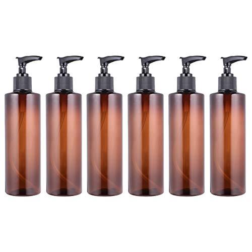 Beaupretty 6 Stück Pumpflasche Pumpspender 250ml Leer Nachfüllbar Seifenspender Lotion Pumpe Gelspender Reise Flasche für Hygiene Reinigung Flüssigkeiten...