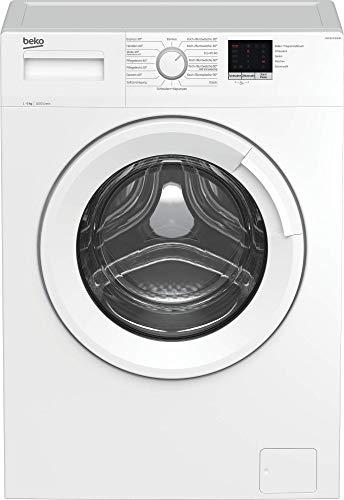 Beko WML61023NGR1 Waschmaschine/Vollelektronisch, 3-6-9 h Startzeitvorwahl, Schleuderwahl, 1000 U/min, XL-Tür, 6 kg, nur 41,5 cm tief - platzsparend, weiß
