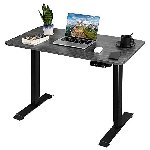 JUMMICO Höhenverstellbarer Schreibtisch Elektrischer Computertisch mit Motor und Tischplatte,110 * 60*(72-116) cm, Schnelles Wechseln Zwischen Sitzen und...