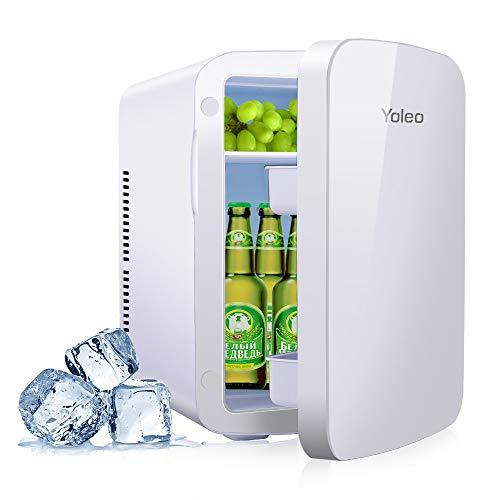 YOLEO mini-kühlschrank 15L Edelstahl, Warmhaltebox Kühlbox Auto mit Kühl- und Heizfunktion, 0~65 ℃ Temperatureinstellbar, für Schlafzimmerbüro RV Auto,...