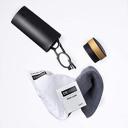 EYESHAKER Set - Patentiertes Brillenreinigungsgerät im Komplettpaket mit EYE-SHAKER, Spezialreiniger und Mikrofaser Brillenputztuch - Innovative...