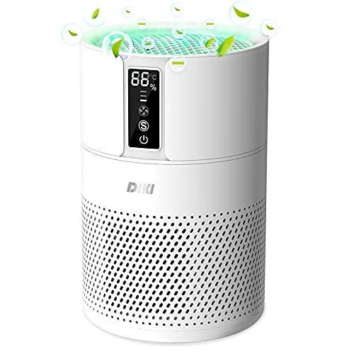 Luftreiniger DIKI Air Purifier mit HEPA-Kombifilter, Luftqualitätsprüfung, Timer, Ionisierer, 99,97% Filterleistung, bis zu 25M², CADR 150m³/h, für...
