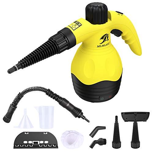 MLMLANT hand dampfreiniger dampfente dampfreinigung handgeraet handgerät hochdruck testsieger laminat 350ML Handdampfreiniger Druck 9-teiliges, Teppiche,...