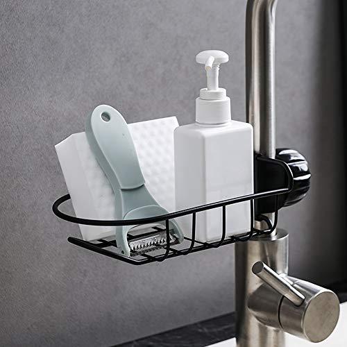 No/Brand Küchen Wasserhahn Rack, Spüle Caddy Organizer, Wasserhahn Abflussregal Seife Lappen Schwamm Bad Blume Edelstahl Lagerregal Küche Badezimmer...