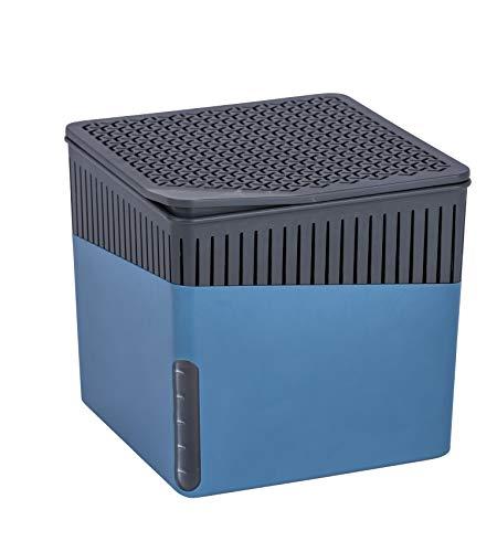 WENKO Raumentfeuchter Cube Blau 1000 g - Luftentfeuchter Fassungsvermögen: 1.6 l, Kunststoff (ABS), 16.5 x 15.7 x 16.5 cm, Blau