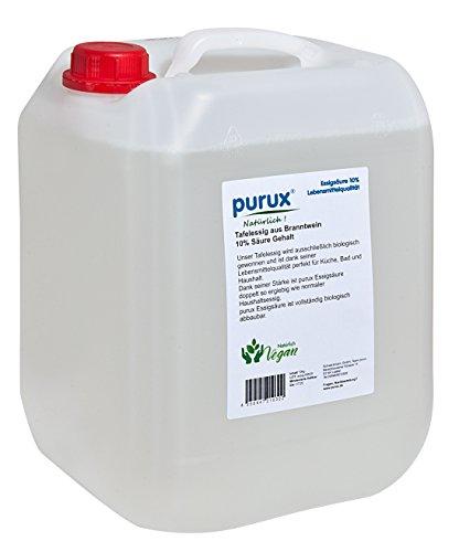 purux 10 Liter Essig Speiseessig Tafelessig Lebensmittelqualität