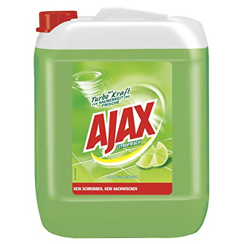 Ajax Allzweckreiniger Citrofrische, 1 x 10l - Reiniger für Sauberkeit und Frische, ideal für Büro, Betrieb, Praxis oder zu Hause, im praktischen Kanister