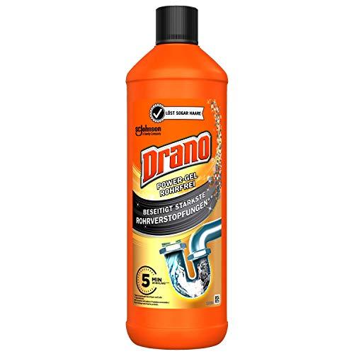 Drano (Mr Muscle) Power Gel Rohrfrei Abflussreiniger, Rohrreiniger, für Küche & Bad, entfernt Verstopfungen, 1er Pack (1 x 1000 ml)