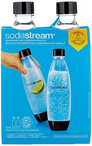 SodaStream DuoPack Fuse 2x 1L KST-Flasche - spülmaschinengeeignet (BPA frei) - Ersatzflaschen für SodaStream Wassersprudler mit PET-Flaschen