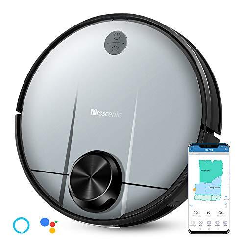Proscenic M6 PRO WLAN Saugroboter, Saugroboter mit Wischfunktion, Staubsauger Roboter mit Laser-Navigation, Alexa- & Google Home &Appsteuerung, 2600PA Saugkraft...