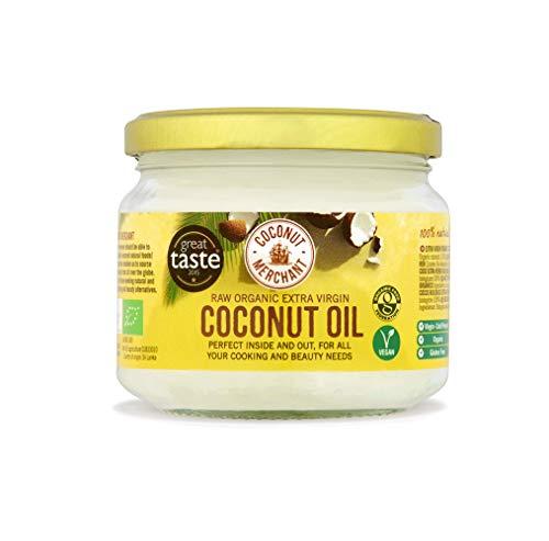 300ml Bio-Kokosöl Extra Virgin, roh, kaltgepresst, unraffiniert | Coconut Merchant | Ethisch bezogen, vegan, ketogen und 100% natürlich | Für Haare, Haut &...