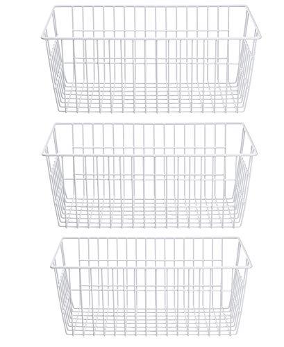 SANNO Farmhouse Organizer Storage Bins Große Organizer Bins für Kühlschrank Gefrierschrank, Büro, Bad, Speisekammer Organisation Storage Bins Rack mit...