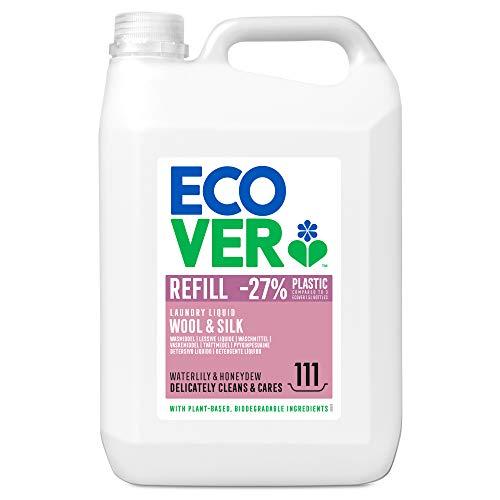 Ecover Feinwaschmittel Wolle & Feines (5 L/111 Waschladungen), Flüssigwaschmittel mit pflanzenbasierten Inhaltsstoffen, Ecover Waschmittel für empfindliche...