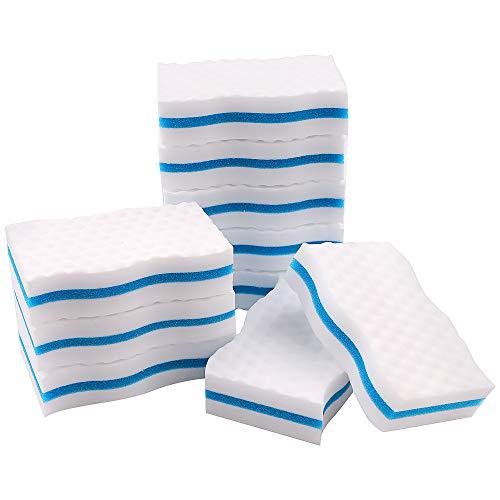 Magische Radierschwämme, Premium-Schwämme, extra dick, Melamin-Schwämme in Großpackung für die Reinigung von Schlieren, Deckspuren, Küche, Bad, Boden und...