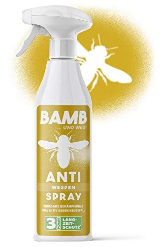 bamb Wespenspray Sofortwirkung & Präventiv – 500ml Anti Wespen Spray zum Wespen vertreiben - Wespenschaum Alternative – Spray gegen Wespen