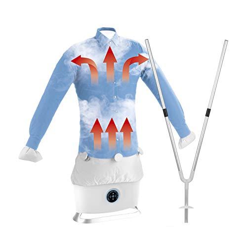 CLEANmaxx Automatischer Hemdenbügler mit Dampffunktion inkl. Hosenaufsatz | Trocknet und glättet Hemden & Blusen und ersetzt Dampfbügelstation | Automatische...