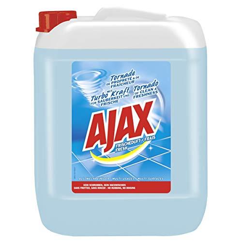 Ajax Allzweckreiniger Frischeduft, 1 x 10l - Haushaltsreiniger für Sauberkeit & Frische, im praktischen Kanister