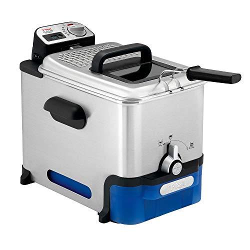Tefal FR8040 Oleoclean Pro Inox & Design Fritteuse | 2300W | Kapazität 1,2 Kg | Herausnehmbarer Ölbehälter | Automatische Öl/Fett Filterung | Timer |...