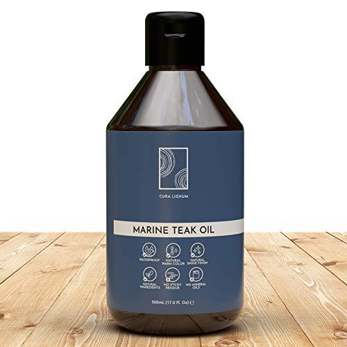 CURA LIGNUM - Hochwertiges Teakholz Öl als Holzpflegeöl, Teaköl für Gartenmöbel farblos, Natürliches Teakholzöl für Teakholz Pflege und Hartholz als...