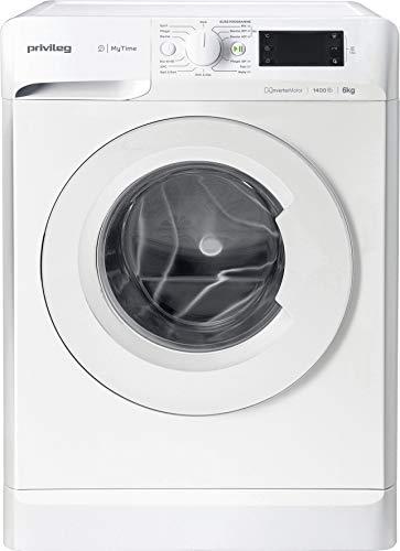 Privileg PWF MT 61483 Waschmaschine Frontlader/1351 UpM/ 6 kg/Startzeitvorwahl/Kurzprogramme/Eco-Motor/Wolle-Programm/Mehrfachwasserschutz , Weiss...
