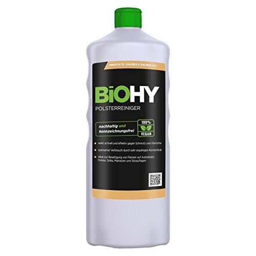 BiOHY Spezial Polsterreiniger (1l Flasche)   Ideal für Autositze, Sofas, Matratzen etc.   Ebenfalls für Waschsauger geeignet