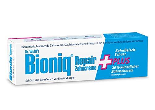 Bioniq Repair Zahncreme Plus - 4 x 75 ml - reparierende Zahnpasta mit künstlichem Zahnschmelz – schützt vor Zahnfleisch-Entzündungen, Zahnstein und...