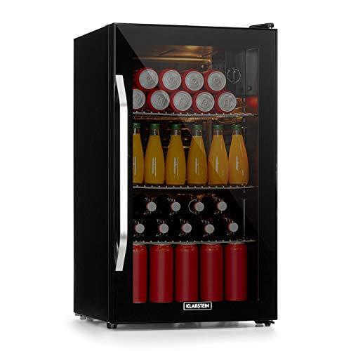 Klarstein Beersafe Onyx - Getränkekühlschrank, Flaschenkühlschrank mit 5 Kühlstufen, Bierkühlschrank 42 dB, flexible Metallböden, Kühlschrank für...