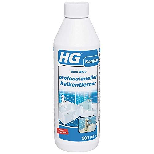 HG professioneller Kalkentferner, Kalkreiniger für das Badezimmer, entfernt Flecken und Ablagerungen von Duschköpfen, Wasserhähnen, Badewannen und Ablagen...