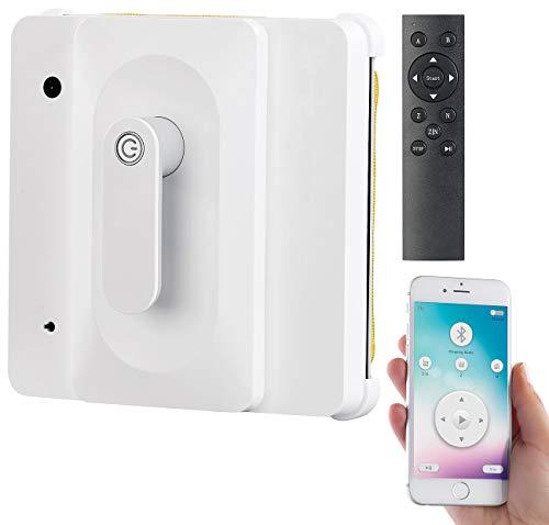 Sichler Haushaltsgeräte Fensterroboter: Profi-Fensterputz-Roboter PR-040 mit Bluetooth, App & Sicherungs-Seil (Fenstersauger)