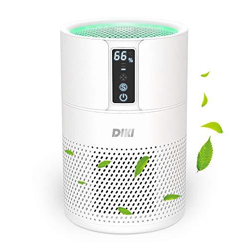 Luftreiniger DIKI Air Purifier mit HEPA-Kombifilter, Aktivkohlefilter und Ionisierer, 99,97% Filterleistung, bis zu 25M², CADR 150m³/h, für Allergiker gegen...