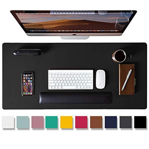 Aothia Schreibtischunterlage,PU-Leder-Schreibtischmatte,Mauspad,Rutschfester Schreibtischschutz,wasserdichter Schreibtisch-Schreibblock für Büro und...