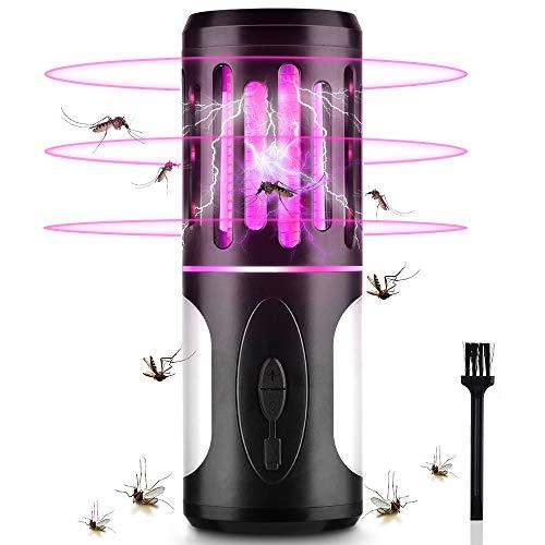 BASEIN 2-IN-1 Elektrischer UV Insektenvernichter, Mückenfalle mit Campinglampe und Taschenlampe, Wasserdicht USB Mückenlampe gegen Mücken, Moskitos, Fliegen...